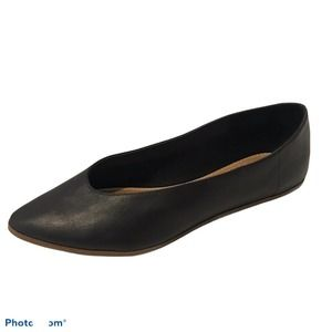 Crown Vintage Telian Flats Size 8 Black Leather